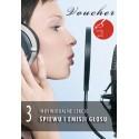 Voucher - 3 lekcje śpiewu i emisji głosu