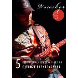 Voucher - 5 lekcji gry na gitarze elektrycznej