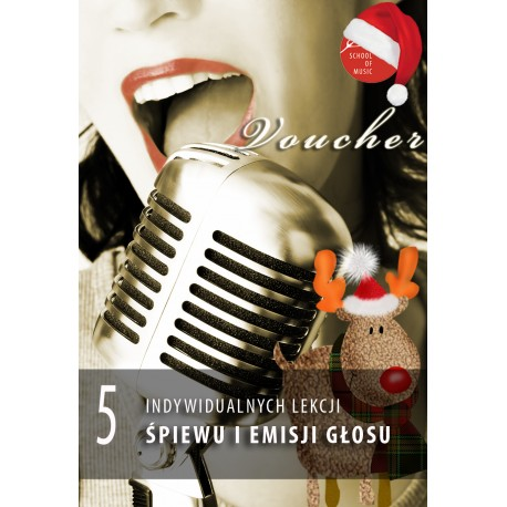 Voucher - 5 lekcji śpiewu i emisji głosu
