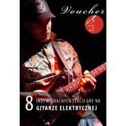 Voucher - 8 lekcji gry na gitarze elektrycznej
