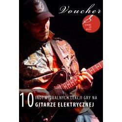 Voucher - 10 lekcji gry na gitarze elektrycznej