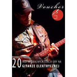 Voucher - 20 lekcji gry na gitarze elektrycznej