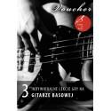 Voucher - 3 lekcje gry na gitarze basowej